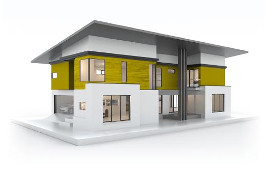 3D modern model home