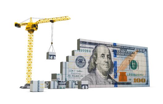 Construction on a dollar bill