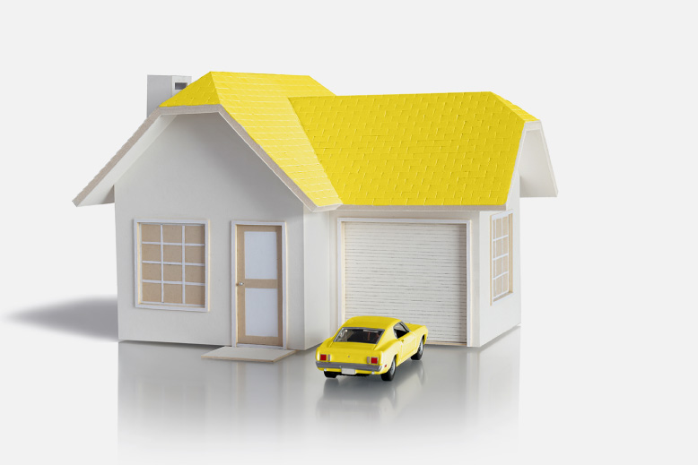 Model home and car