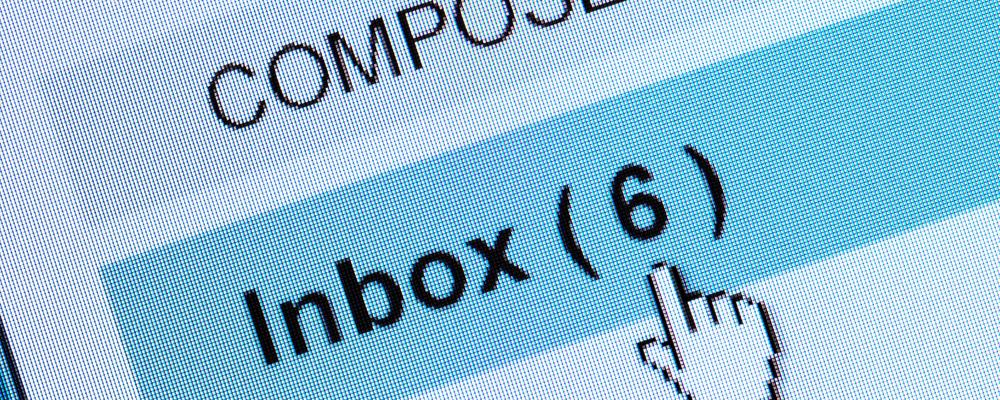 Inbox on computer